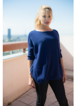 PULL LARGE CACHEMIRE AVEC POCHES