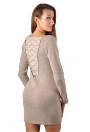 robe cachemire avec dos dentelle SEXY CACHEMIRE